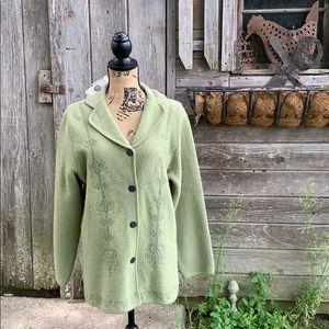 Pendleton Merino wool jacket in sage green